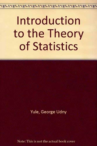 9780852641408: Introduction to the Theory of Statistics