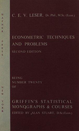 9780852642184: Econometric Techniques and Problems (Statistical Monograph)