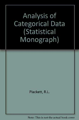 9780852642658: Analysis of Categorical Data (Statistical Monograph)