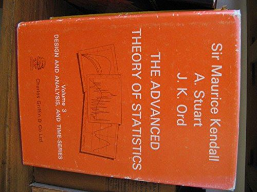 The Advanced Theory of Statistics : Volume 3 only ,4th edition: Kendall, Maurice; Stuart, Alan; Ord...