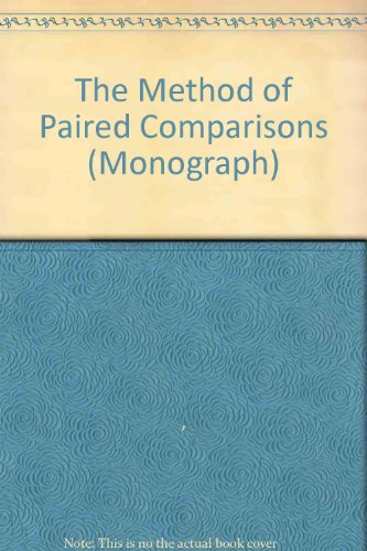 The Method of Paired Comparisons: David, H.A.