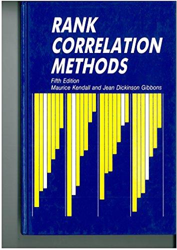 9780852643051: Rank Correlation Methods