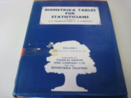 9780852647011: 002: Biometrika Tables for Statisticians