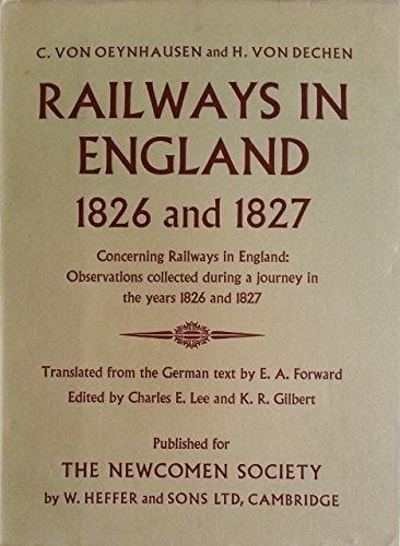 Railways in England, 1826 and 1827 .