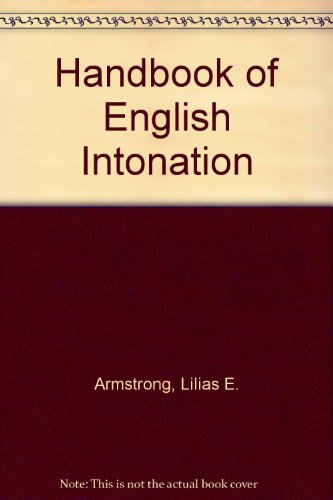 9780852700907: Handbook of English Intonation