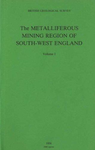 9780852721049: Metalliferous Mining Region of South-West England: vs. 1 & 2: Economic Geology Memoir (England and Wales) (Geological Memoirs & Sheet Explanations (England & Wales))