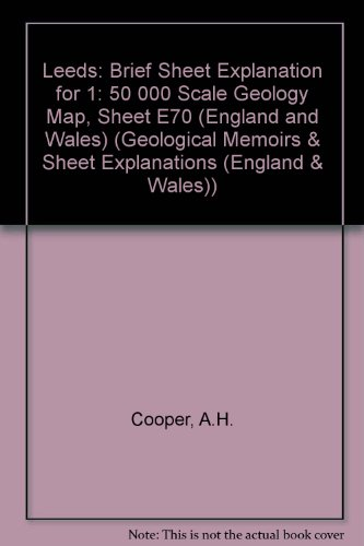 Leeds: Brief Sheet Explanation for 1: 50: Cooper, A.H.