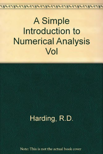 9780852741566: A Simple Introduction to Numerical Analysis Vol