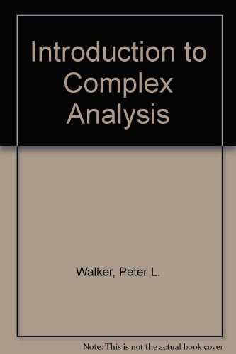 9780852742631: Introduction to Complex Analysis