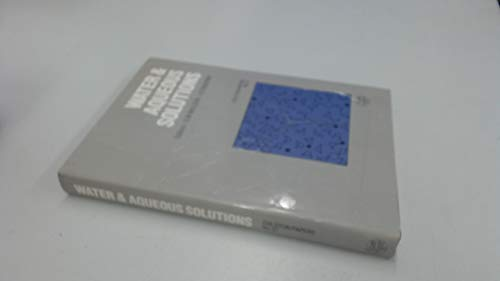 9780852745762: Water and Aqueous Solutions, (Colston Papers, No 37)