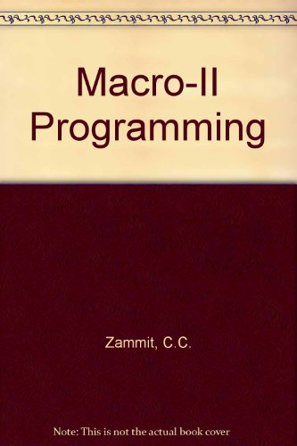 MACRO 11 Programming,: C. Zammit