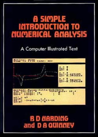 9780852748213: A Simple Introduction to Numerical Analysis: Volume 1