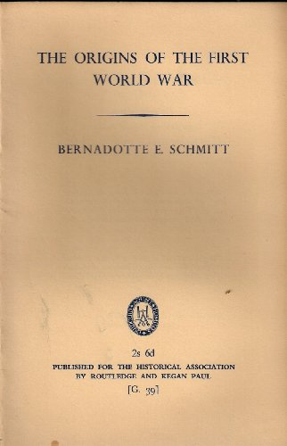 9780852781180: The Origins of the First World War (Historical Association General series; No 39)