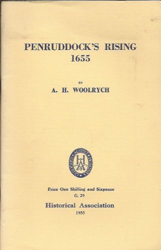 Penruddock's Rising 1655: WOOLRYCH, A.H.