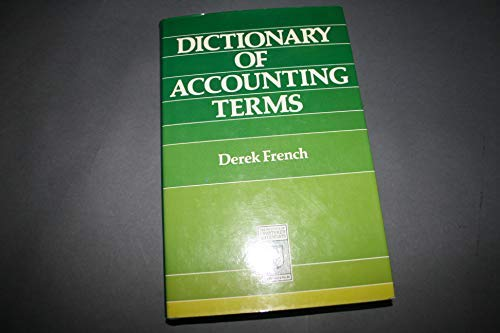 9780852917077: Dictionary of Accounting Terms