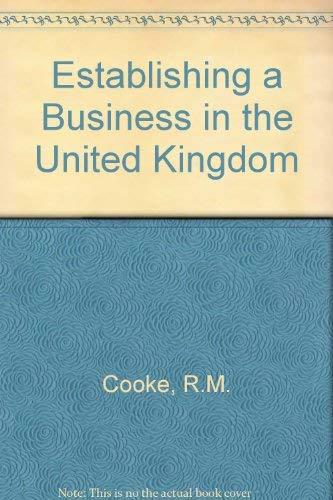 9780852917534: Establishing a Business in the United Kingdom