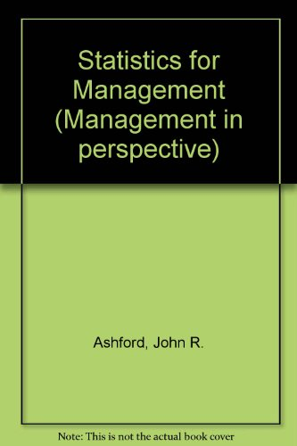 Statistics for management (Management in perspective)