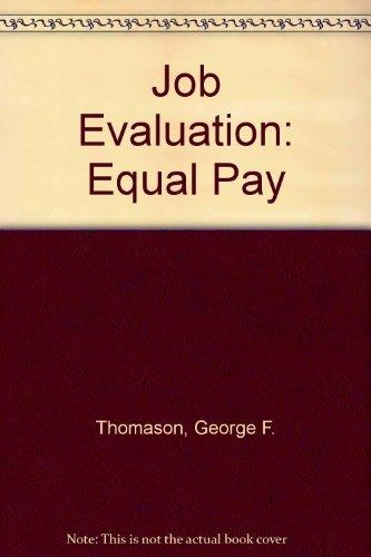 9780852923566: Job Evaluation: Equal Pay