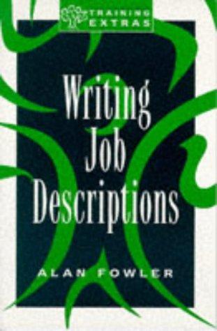 9780852926925: Writing Job Descriptions (Training Extras)