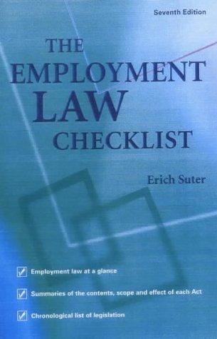 9780852928493: The Employment Law Checklist