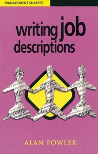 9780852928660: Writing Job Descriptions (Management Shapers)
