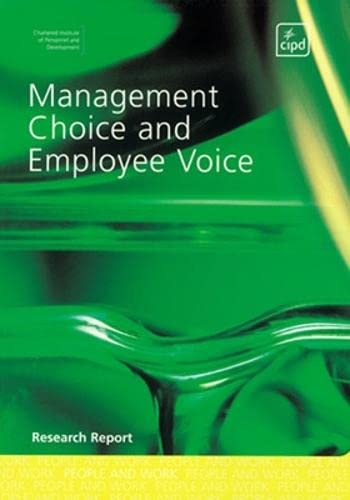 9780852929476: Management Choice and Employee Voice (Research)
