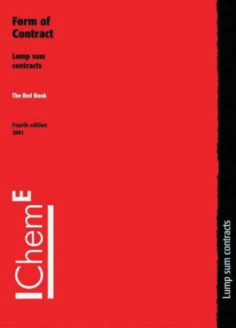 9780852954430: The Red Book: Form of Contract, Lump Sum Contracts - IChemE