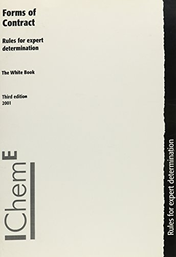9780852954485: The White Book: Forms of Contract, Rules for Expert Determination