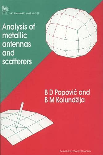 9780852968079: Analysis of Metallic Antennas and Scatterers (IEE Electromagnetic Waves)