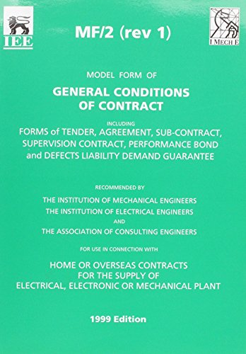 9780852968581: Mf/2 (rev 1) Model Form of General Conditions of Contract
