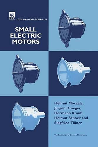 9780852969212: Small Electric Motors (Power & Energy Series 26)