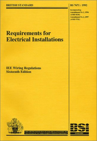 requirements for electrical installations iee wiring regulations rh abebooks com iee wiring regulations 17th edition iee wiring regulations 18th edition