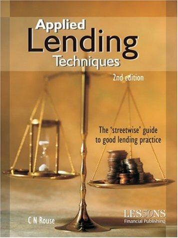9780852975374: Applied Lending Techniques