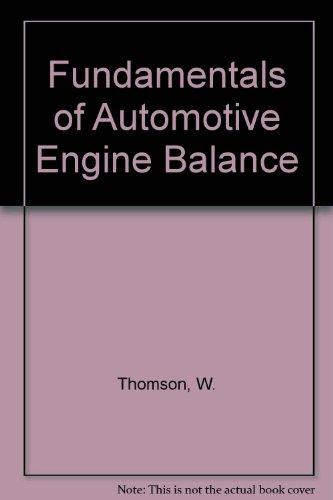 9780852984093: Fundamentals of Automotive Engine Balance