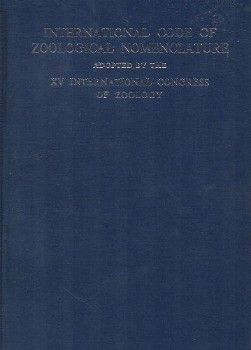 International Code of Zoological Nomenclature: International Commission on Zoological Nomenclature