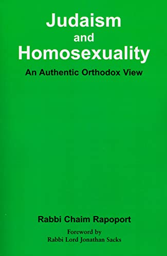 9780853034520: Judaism and Homosexuality: An Authentic Orthodox View