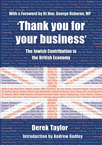 9780853038535: 'Thank you for your business': The Jewish Contribution to the British Economy