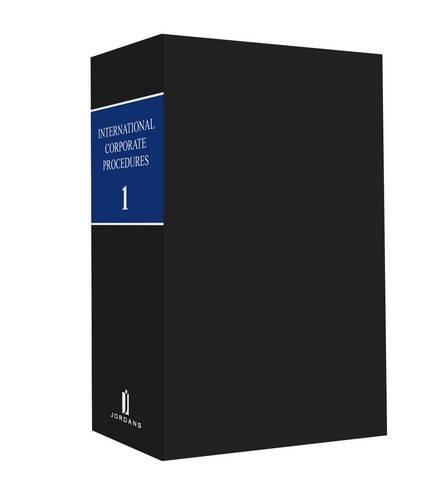 9780853081562: International Corporate Procedures
