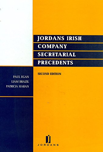 9780853081784: Jordans Irish company secretarial precedents