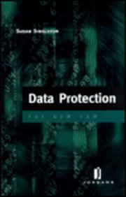 9780853085218: Data Protection: The New Law