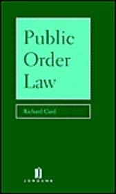 9780853085959: Public Order Law
