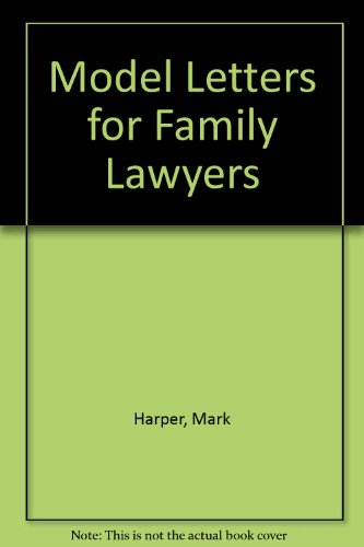 9780853086239: Model Letters for Family Lawyers: 2nd Edition