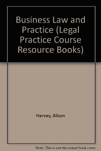 Business Law and Practice 2001/2002 OUT OF: Adams, Trevor, Longshaw,