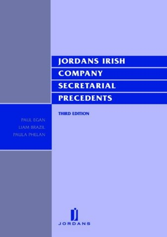 9780853088448: Jordans Irish Company Secretarial Precedents: 3rd Edition