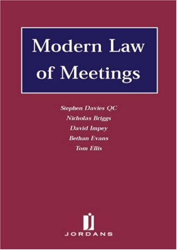 9780853088592: The Modern Law of Meetings