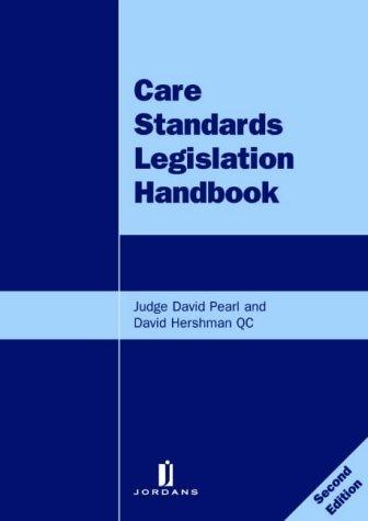 9780853089230: Care Standards Legislation Handbook 2nd Ed