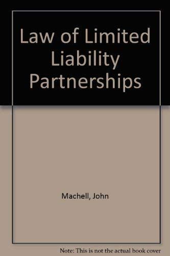 9780853089469: The Law of Limited Liability Partnerships 2ed