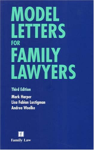 9780853089773: Model Letters for Family Lawyers: Third Edition