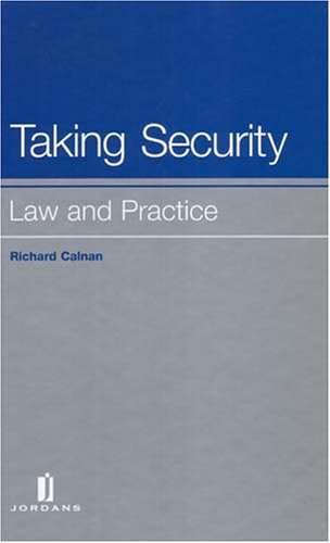 9780853089957: Taking Security: Law and Practice