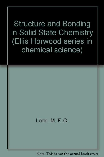9780853121039: Structure and Bonding in Solid State Chemistry (Ellis Horwood series in chemical science)